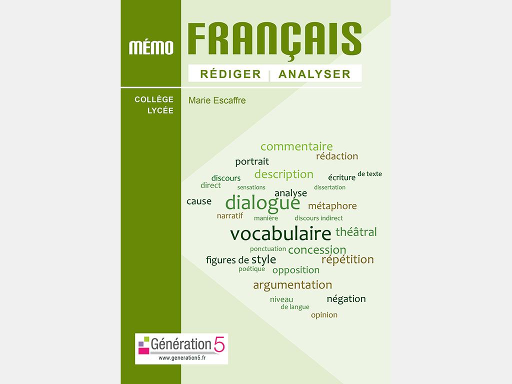 Mémo de français, rédiger et analyser