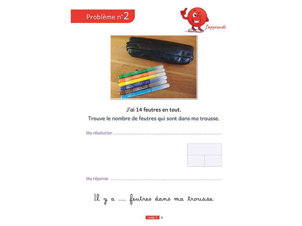 Problème du livret élève - Enseigner la résolution de problèmes au CP