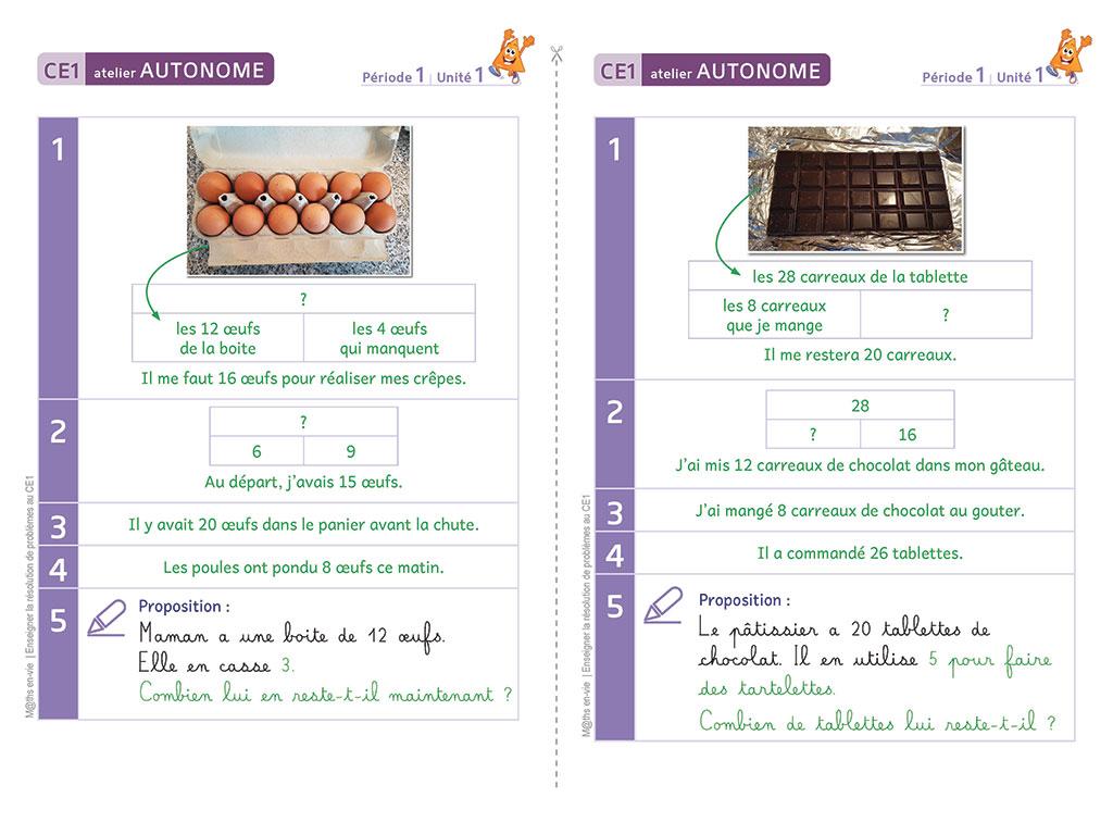 Corrigé de maths - Enseigner la résolution de problèmes au CE1
