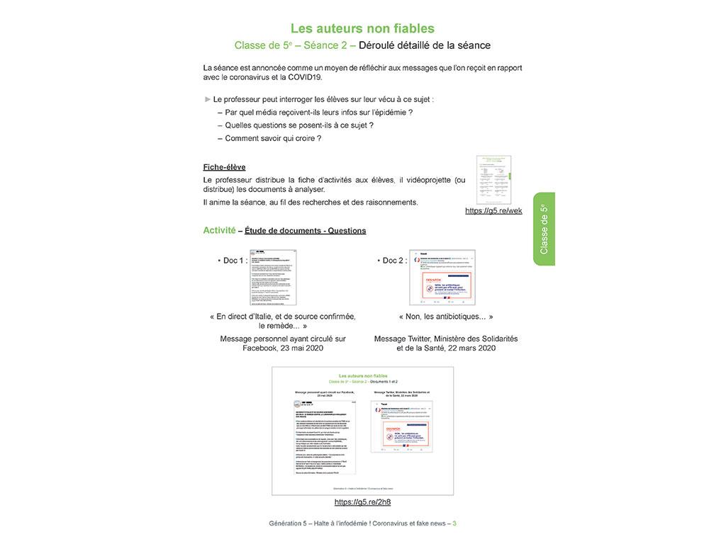 Les auteurs non fiables - Halte à l'infodémie ! Coronavirus et fake news