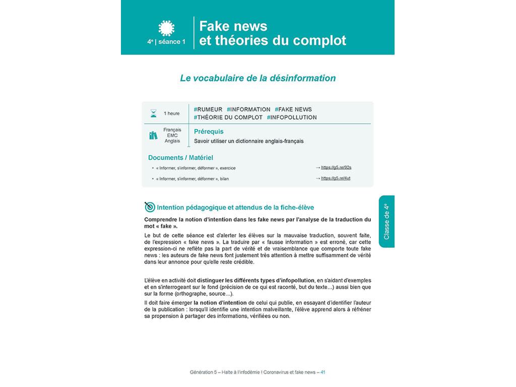 Fake news et théories du complot - Halte à l'infodémie ! Coronavirus et fake news
