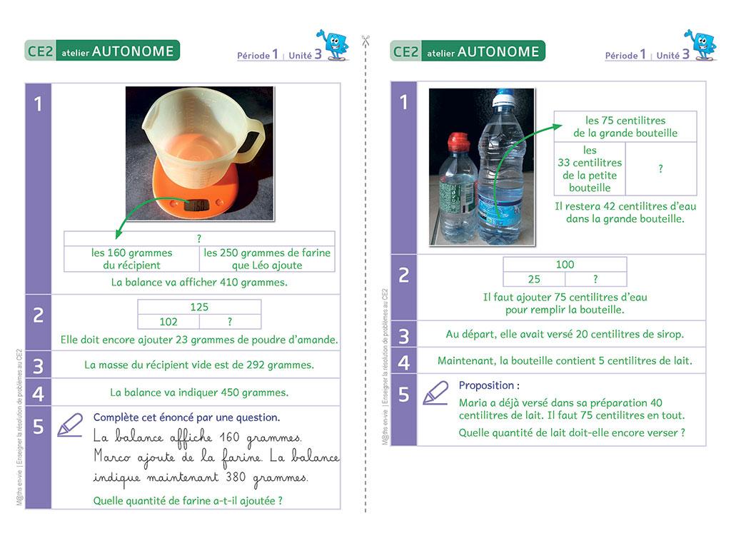 Correction d'exercices - Enseigner la résolution de problèmes au CE2