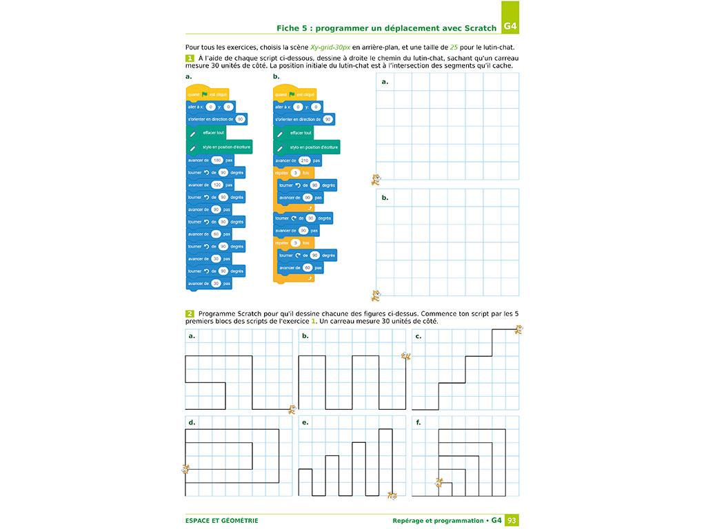 Exercices de programmation - Cahier iparcours 6e