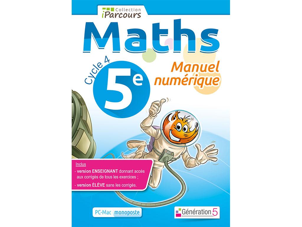 Manuel Numerique Iparcours Maths 5e Ed 2016 Pour L Enseignant