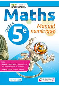 Manuel numérique iParcours Maths 5e (éd. 2016) pour l'enseignant