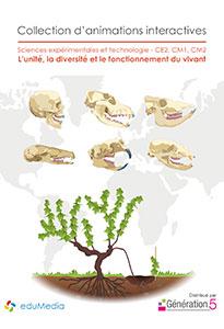 Animations interactives : L'unité, la diversité et le fonctionnement du vivant (CE2-CM1-CM2)