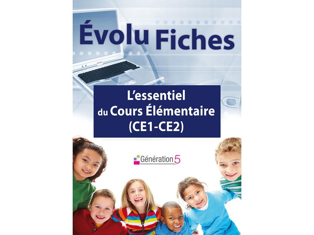 Evolu Fiches - L'Essentiel du Cours Élémentaire CE1 et CE2