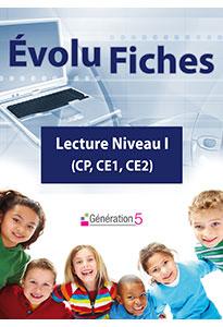 Evolu Fiches - Lecture niveau I (CP, CE1, CE2)