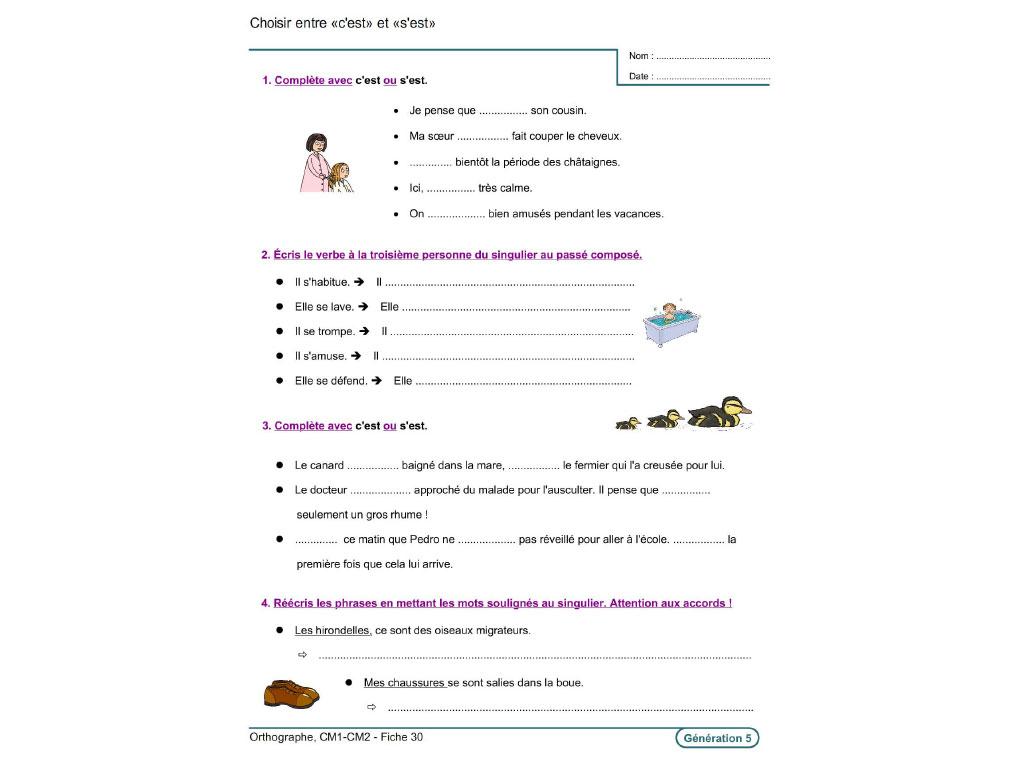 Evolu Fiches Orthographe Cm1 Cm2