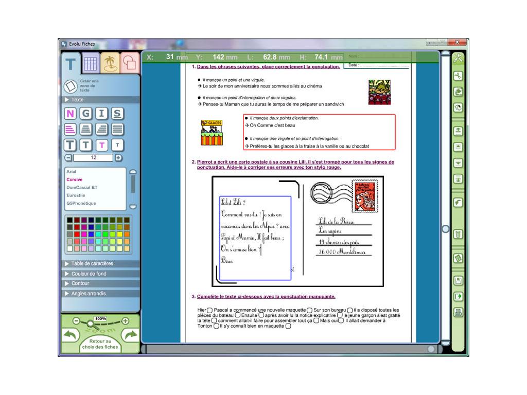 Exercice logiciel grammaire CE1-CE2