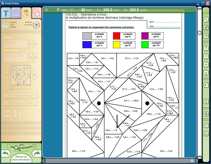 Fiches d 39 exercices modifiables maths et mangas au cm1 et cm2 for Exercice de multiplication cm1