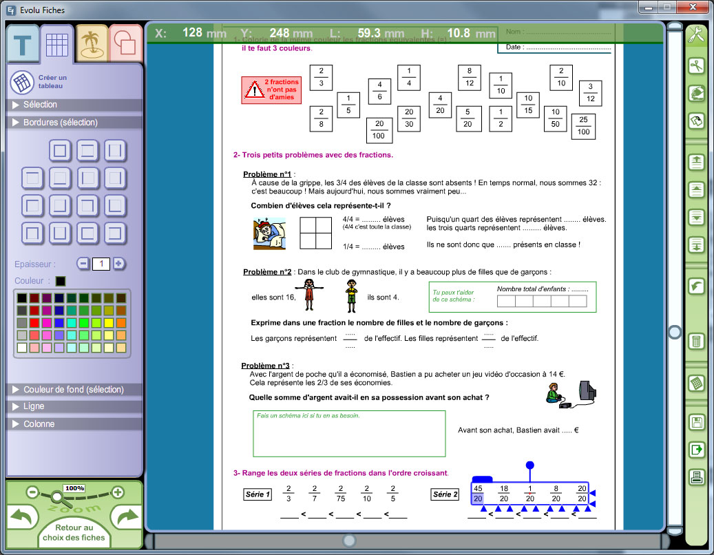 Evolu Fiches : Numération, opérations et calcul au CM2