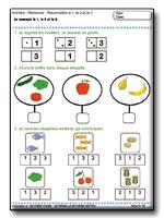activits mathmatiques en maternelle moyenne section reconnaitre le 1 2 et 3