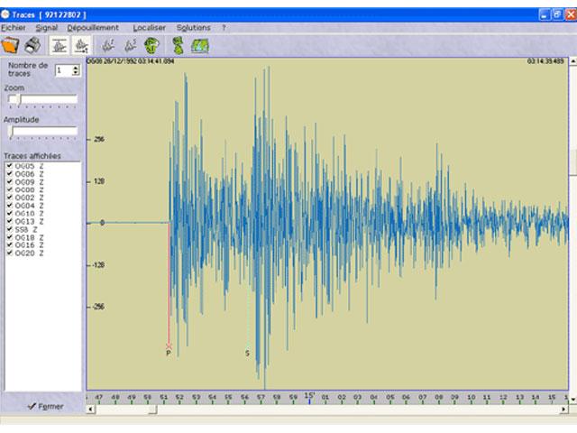 sismologue logiciel