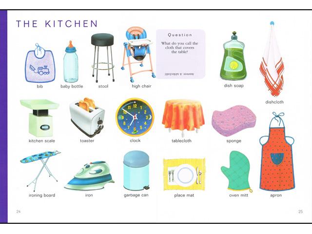 Imagier en anglais pour l 39 cole ou la maison for Apprendre les objets de la maison