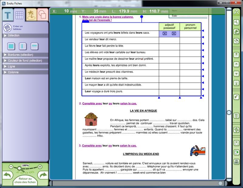 Fiches d'exercices modifiables , Orthographe au CM1 et CM2